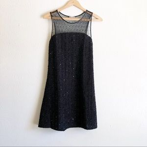 Zara Sequin Mesh Sleeveless Dress